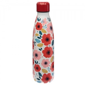 Stainless Steel Insulated Drinks Bottle - Poppy Fields