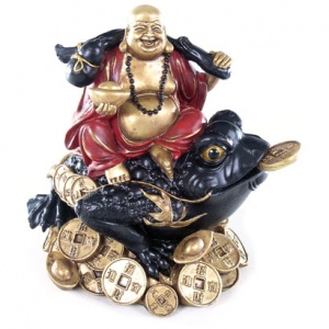 Laughing Buddha Sitting on wealth Toad