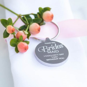 Personalised Wedding Keyring - Bridesmaid