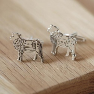Sheep Cufflinks with Personalised Gift Box