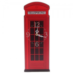 Shaped Clock - Red Telephone Box by Ted Smith