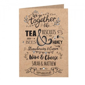 Personalised Card - We Go Together Like