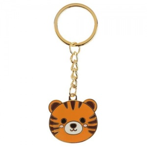 Collectable Cute Tiger Enamel Keyring