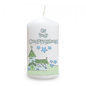 Whimsical Church Confirmation Candle