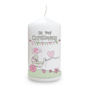 Whimsical Christening Candle