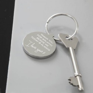 Personalised Wedding Keyring - Giving Me Away