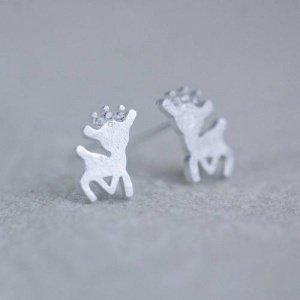 Sterling Silver Reindeer Earrings