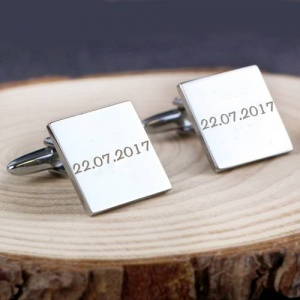 Personalised Square Cufflinks - 1 line