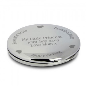 Personalised Compact Mirror - Beautiful Bride