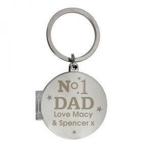 Personalised Photo Keyring - No1 Dad
