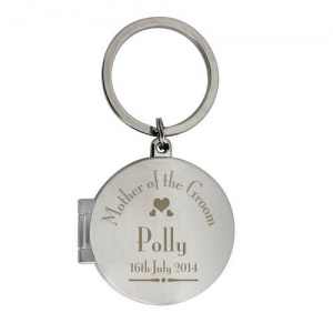 Decorative Wedding Mother of the Groom Round Photo Keyring