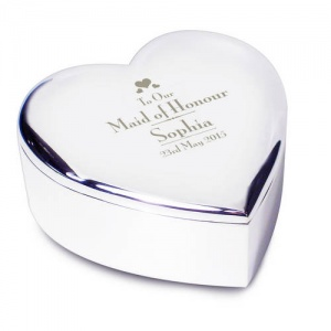 Decorative Wedding Maid of Honour Heart Trinket