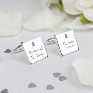 Decorative Wedding Square Cufflinks - Any Role
