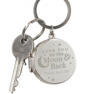 Personalised Photo Keyring - To the Moon and Back