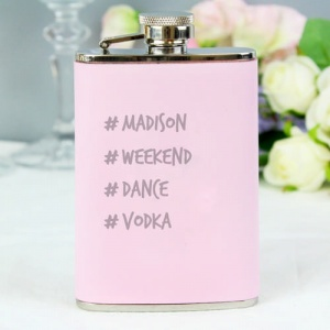 Hashtag Pink Hipflask