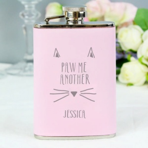 Paw Me Another Pink Hipflask
