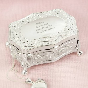 Personalised Small Antique Style Trinket Box