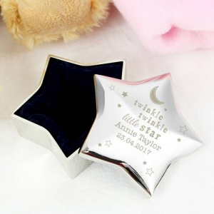 Personalised Star Trinket Box - Twinkle Twinkle