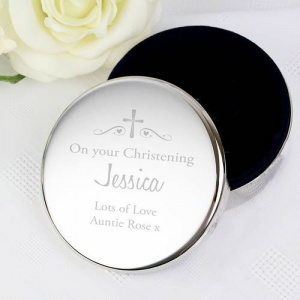Personalised Religious Occasion Trinket Box - Swirls & Hearts