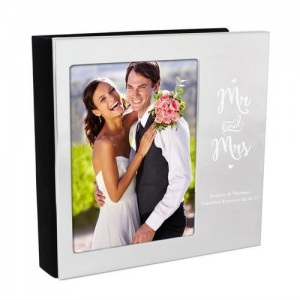 Personalised 4x6 Photo Frame Album - Mr and Mrs