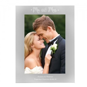Personalised 5x7 Photo Frame -  Mr & Mrs