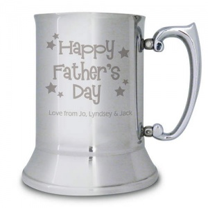 Personalised Stainless Steel Father's Day Tankard