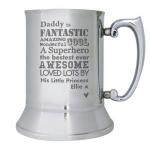 He is... Stainless Steel Tankard