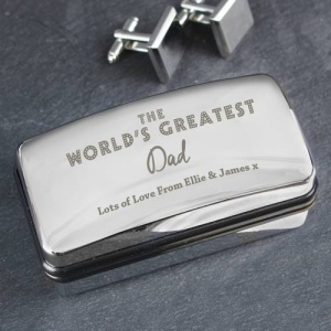Personalised Cufflink Box - The World's Greatest