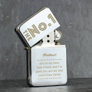 Personalised Silver Lighter - The No.1
