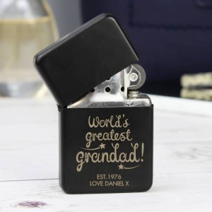 Personalised Black Lighter - World's Greatest Grandad