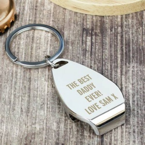 Personalised Bottle Opener Keyring