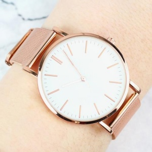 Personalised Ladies Rose Gold Tone Watch with Presentation Box