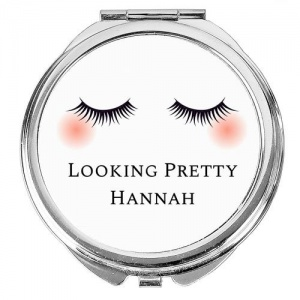 Personalised Compact Mirror - Eyelashes