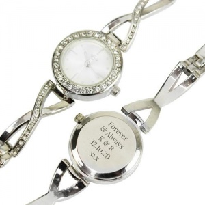 Personalised Silver Ladies Watch - Infinity