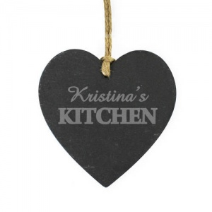 Kitchen Slate Heart Decoration