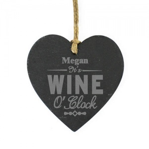 Wine O'Clock Slate Heart