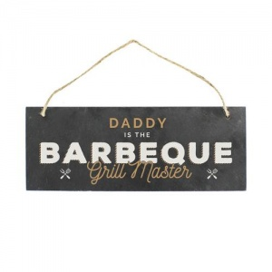 Personalised Colour Printed Slate Plaque - Barbeque Grill Master