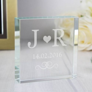 Personalised Crystal Token - Monogram