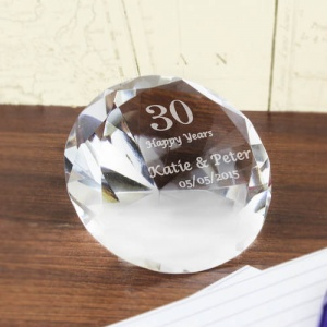 Big Numbers Diamond Paperweight