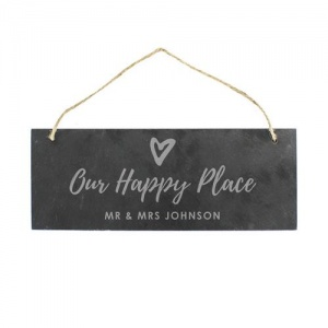 Personalised Slate Plaque - Our Happy Place