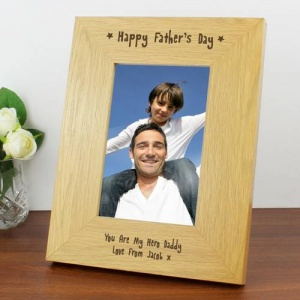 Personalised 6x4 Wooden Frame - Happy Father's Day