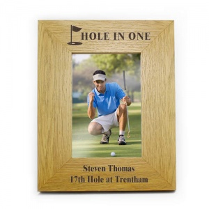 Personalised 6x4 Oak Finish Frame - Golf