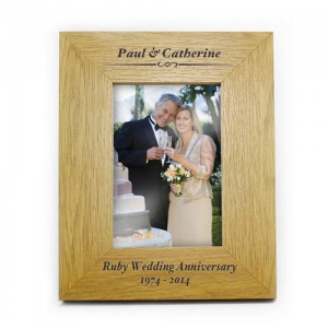 6x4 Oak Finish Portrait Frame - Formal