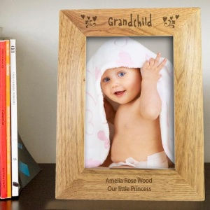Personalised Wooden Photo Frame - Grandchild