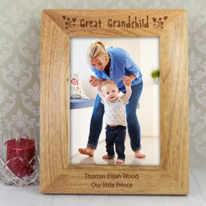 Personalised Wooden Photo Frame - Great Grandchild