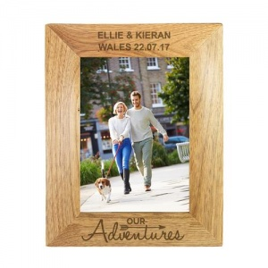 Personalised Wood Photo Frame - Our Adventures