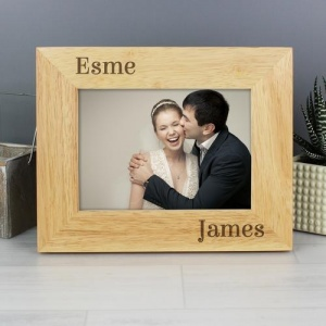 Personalised Wooden Photo Frame - Couples