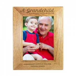 Personalised Wooden Photo Frame - A Grandchild is a Blessing