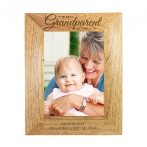 Personalised Wooden Photo Frame - 'The Best Grandparent'