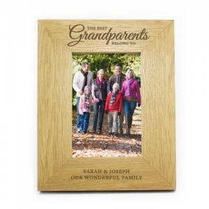 Personalised Oak Finish 4x6 Photo Frame -  The Best Grandparents